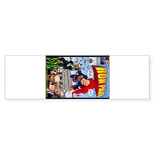 Ron Paul Super Hero Comic Boo Bumper Bumper Sticker