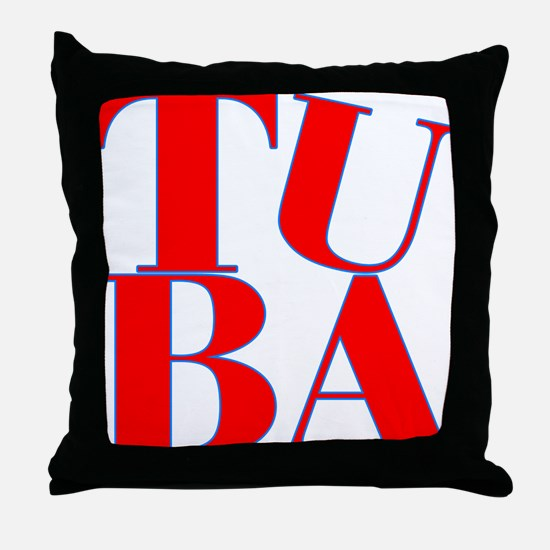 BandNerd.com -- Tuba Throw Pillow