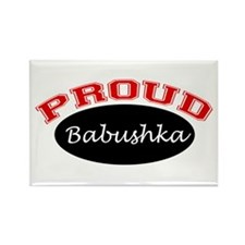 Proud Babushka Rectangle Magnet