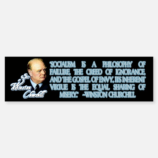 Churchill on Socialism Bumper Bumper Bumper Sticker