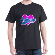 "Italian ""Bellissima"" Black T-Shirt"