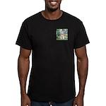 Bridge/Schnauzer #9 Men's Fitted T-Shirt (dark)