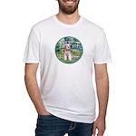 Bridge/Schnauzer #9 Fitted T-Shirt