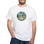 Bridge/Schnauzer #9 White T-Shirt