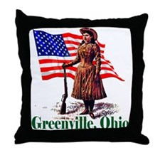 Funny Greenville girl Throw Pillow