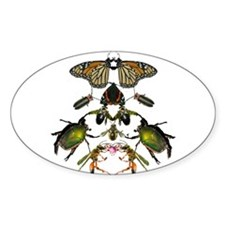 New York insect mask Oval Decal