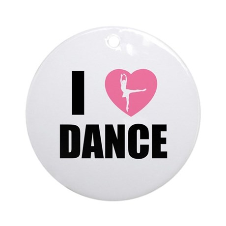 I HEART DANCE Ornament (Round)