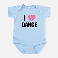 I HEART DANCE Infant Bodysuit