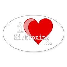 iLoveKickboxing.com Oval Decal