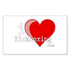 iLoveKickboxing.com Rectangle Decal