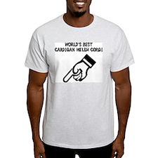World's Best Cardigan Welsh C Ash Grey T-Shirt
