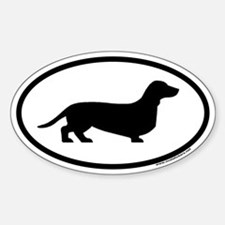 Dachshund Euro Oval Decal