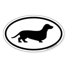 Dachshund Euro Oval Stickers