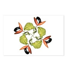 Swartzia flower and fruit dan Postcards (Package o