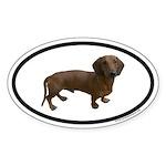 Dachshund Euro Oval Sticker