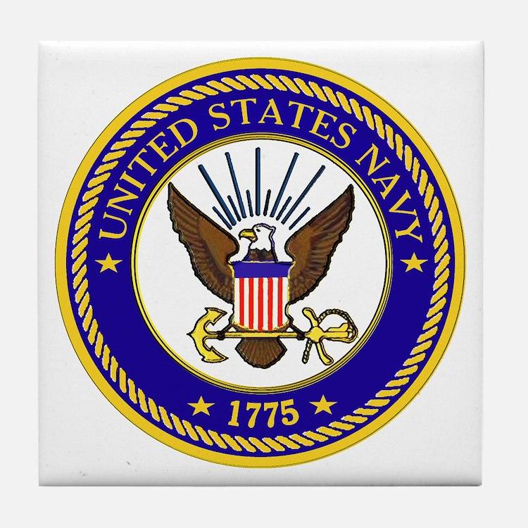 US Navy Emblem Tile Coaster