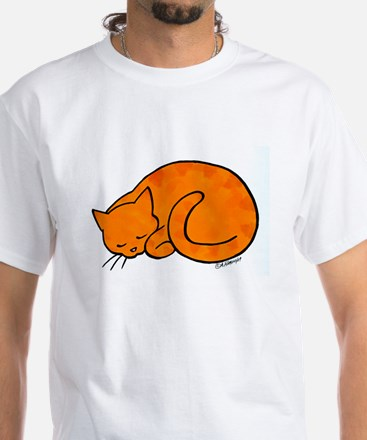 Orange Sleeping Cat Shirt