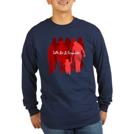 Life As A Commitee Long Sleeve Dark T-Shirt