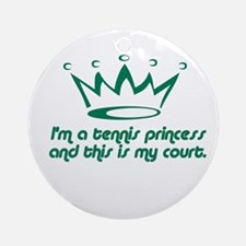 Tennis Princess Ornament (Round)