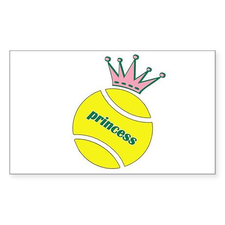 Tennis Princess Rectangle Sticker