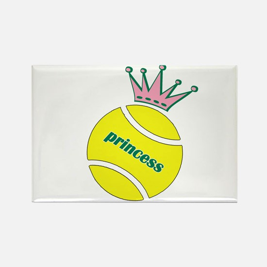Tennis Princess Rectangle Magnet (10 pack)