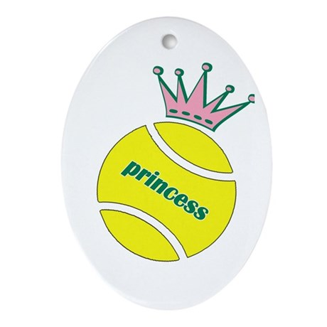 Tennis Princess Oval Ornament