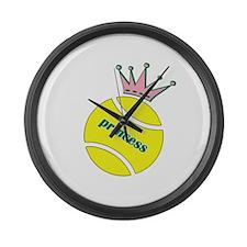 Tennis Princess Large Wall Clock