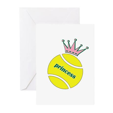 Tennis Princess Greeting Cards (Pk of 10)