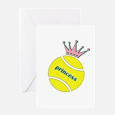 Tennis Princess Greeting Card