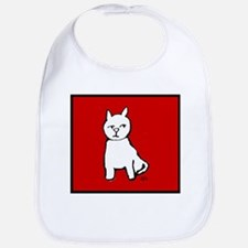 afif cat simple contour Bib