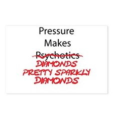 Sparkly Psycho Postcards (Package of 8)