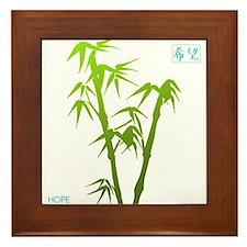 Bamboo Hope Framed Tile