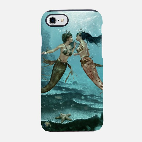 Friendly Mermaids iPhone 7 Tough Case