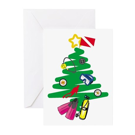 A Very Scuba Christmas Greeting Cards (Package of