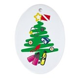Scuba Oval Ornaments