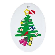 A Very Scuba Christmas Oval Ornament
