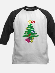 A Very Scuba Christmas Kids Baseball Jersey