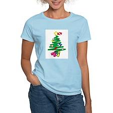 A Very Scuba Christmas Women's Pink T-Shirt