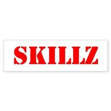 """SKILLZ"" Bumper Bumper Sticker"