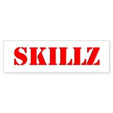 """SKILLZ"" Bumper Car Sticker"