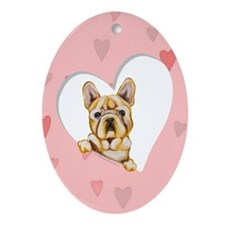 French Bulldog Lover Ornament (Oval)