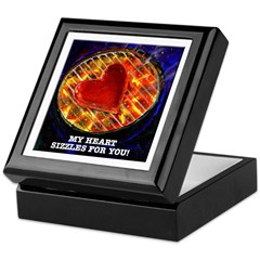 My Heart Sizzles For You Keepsake Box