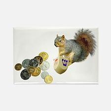 Dreidel Squirrel Rectangle Magnet