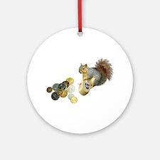 Dreidel Squirrel Ornament (Round)