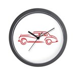 Adenauer Red Wall Clock
