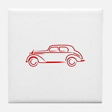Mercedes 180 RED Tile Coaster