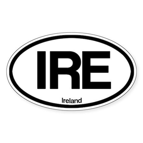 Ireland Oval Sticker