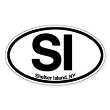 Shelter Island Oval Bumper Stickers