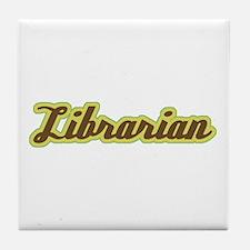 Librarian Script Tile Coaster