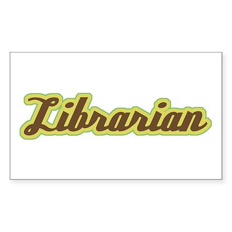 Librarian Script Rectangle Sticker